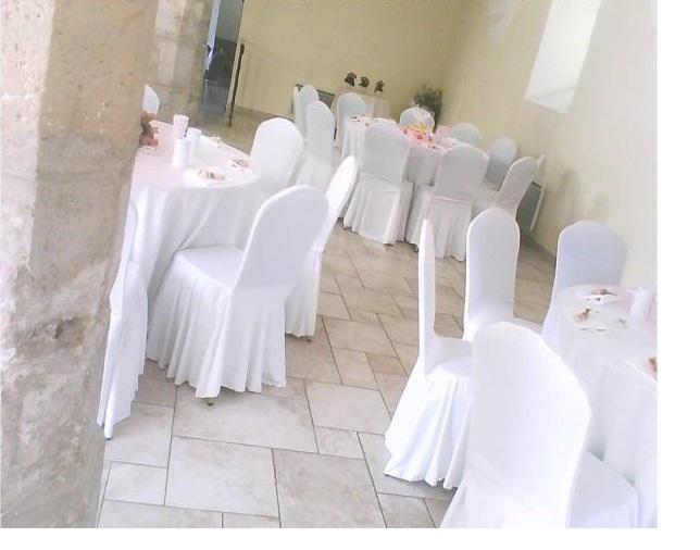 Marion nous organisation et d coration de mariages for Housse de chaise tissus